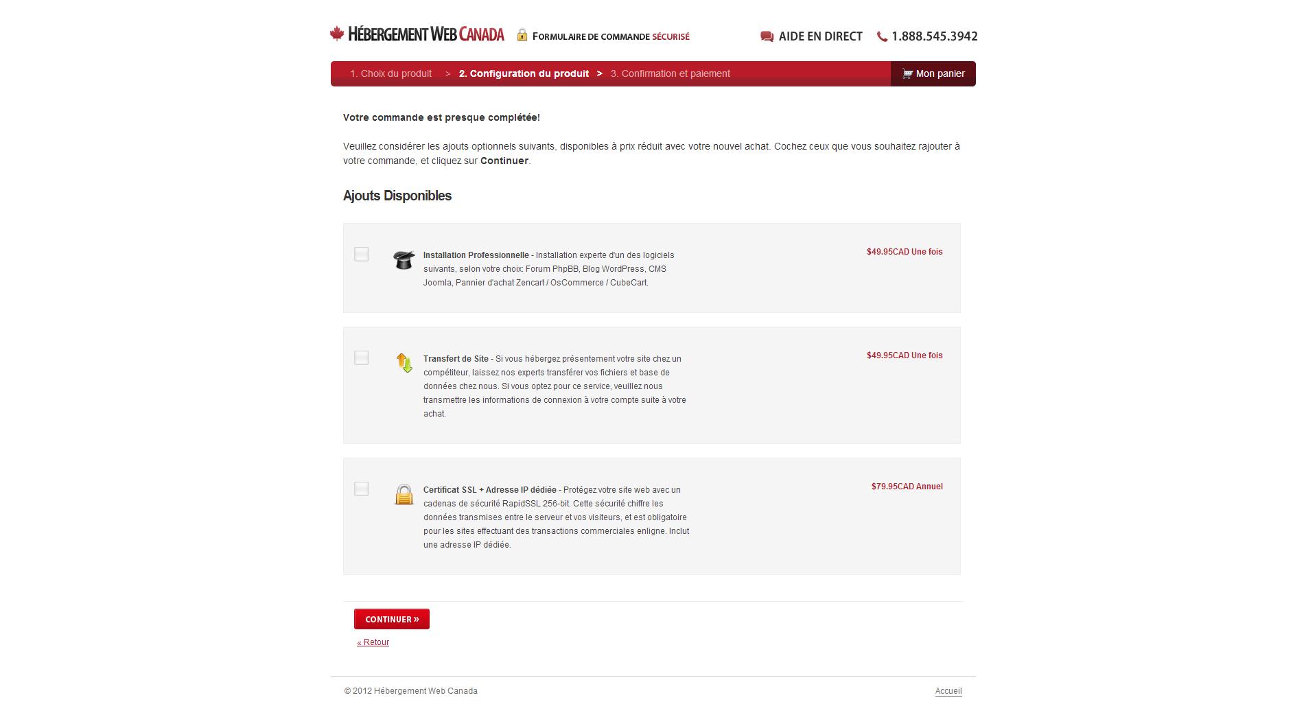 Hébergement Web Canada Ajouts