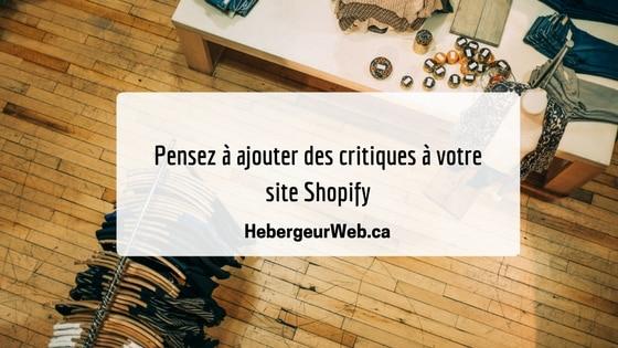 Critiques Shopify