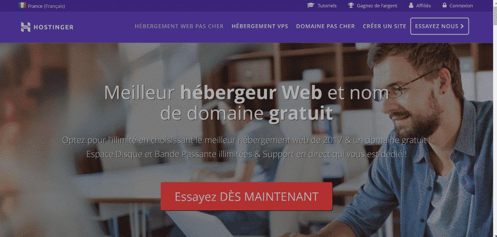 Hébergement Hostinger.fr