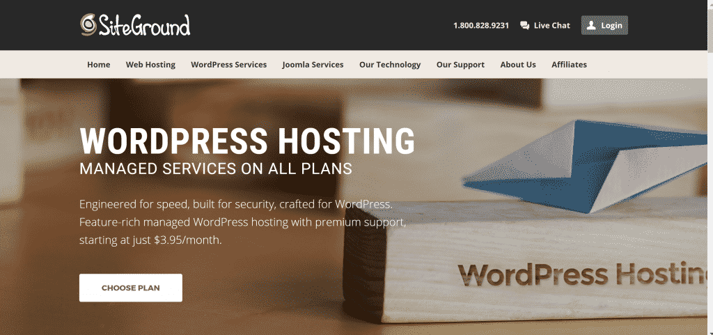 Hébergement WordPress SiteGround