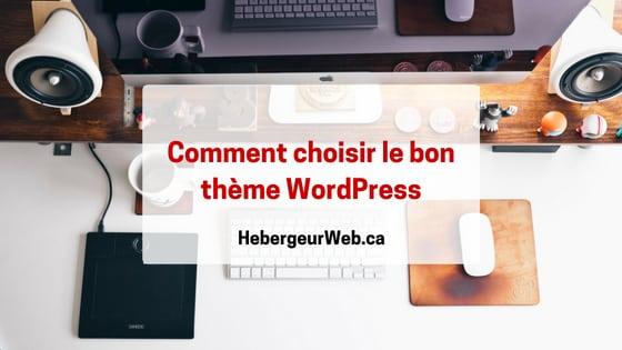 Choisir le bon thème WordPress