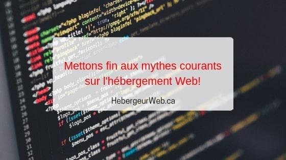 Mythes hébergement Web